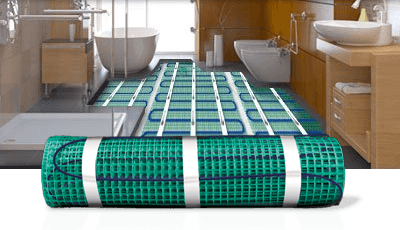 underfloor heating mat installation