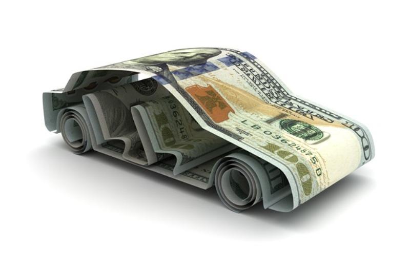 car made of money