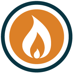 natural gas heater icon