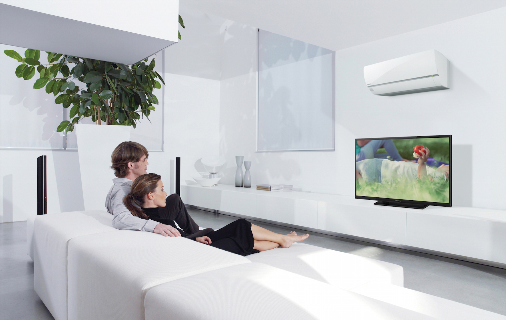 Panasonic heating and cooling econavi system feature