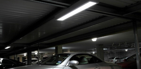 image of parking deck and canopy light