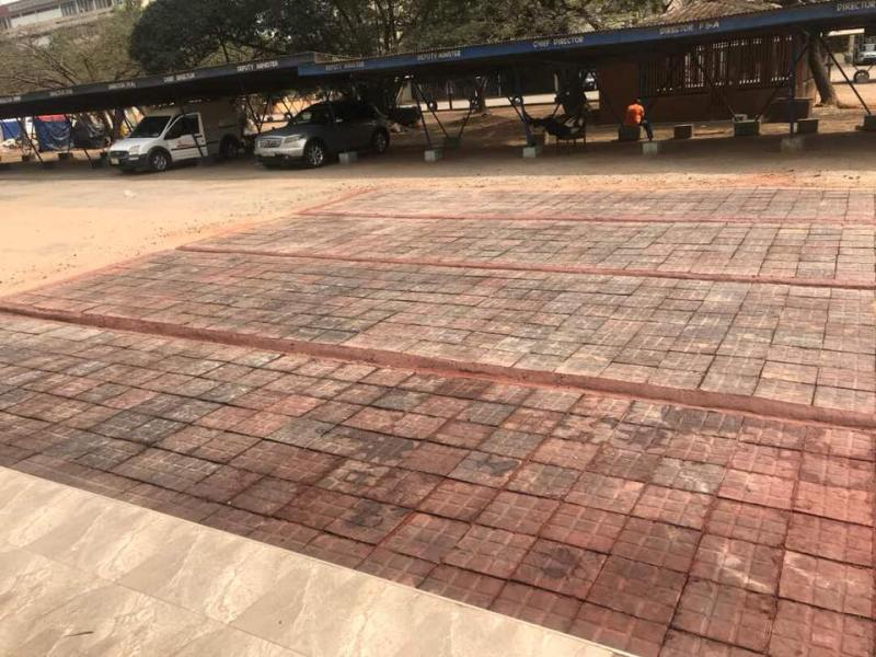 pavement blocks made from plastic in Ghana