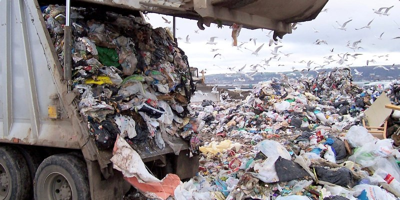 plastic waster in Ghana Africa