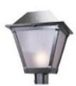 Lantern post light fixture