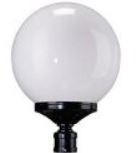 Sphere post light fixture