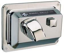 Push button hand dryer
