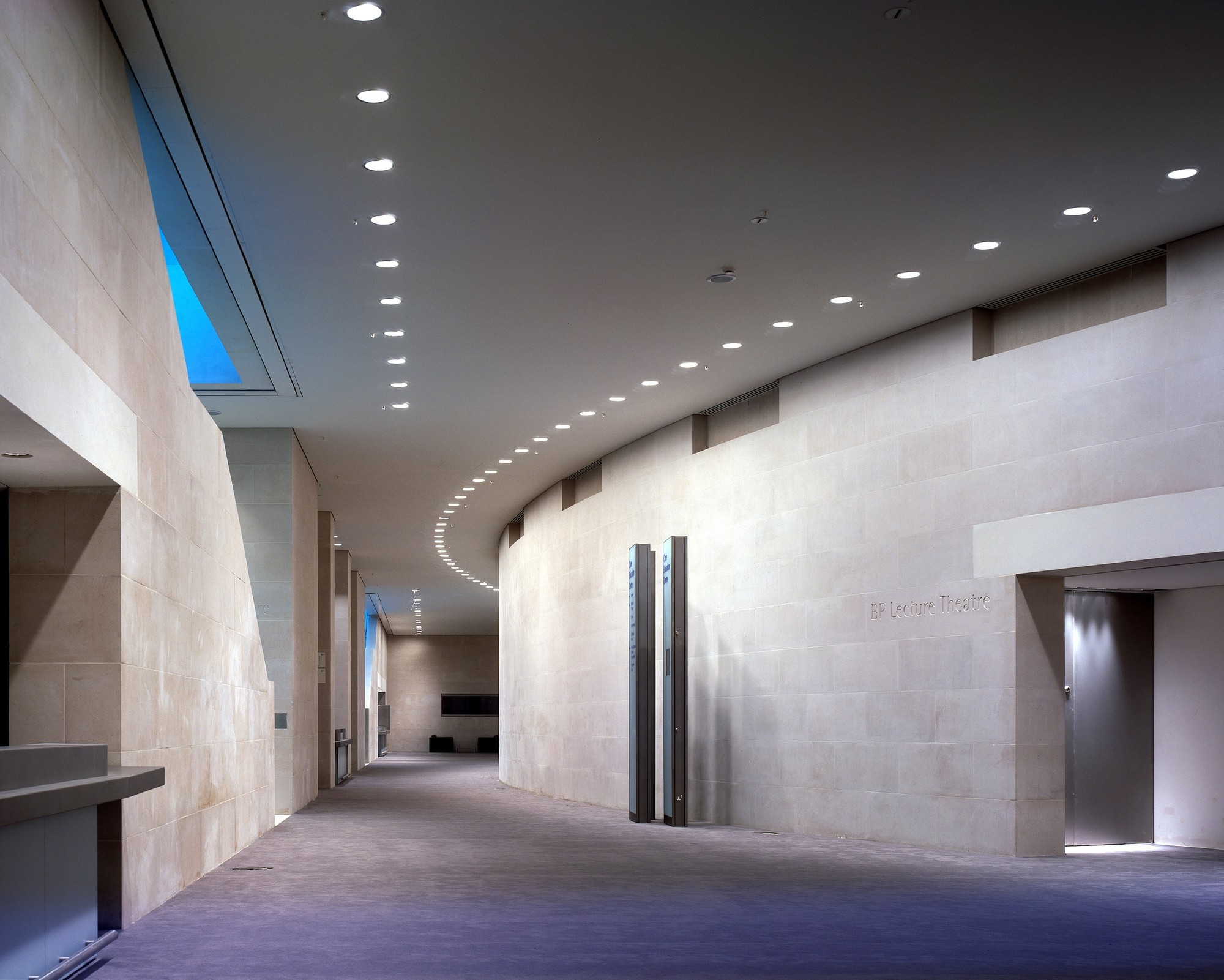 recessed down lights in commercial building