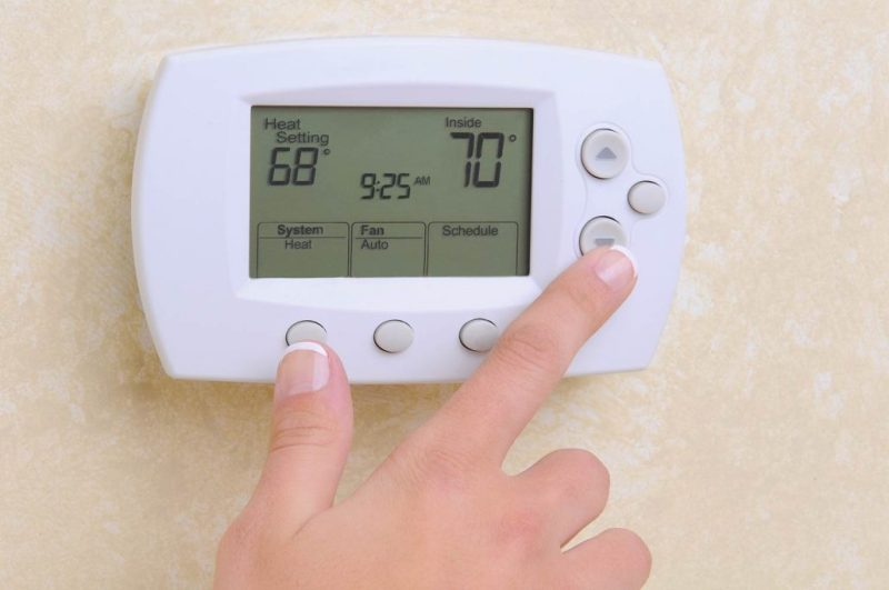 lower the temperature on the thermostat