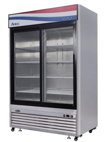 sliding doors on commercial refrigerator