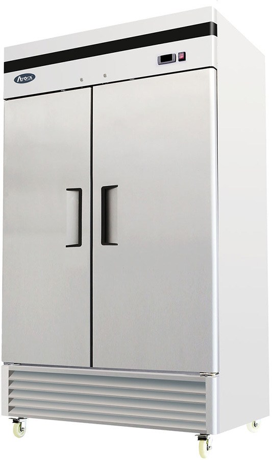 solid doors on commercial refrigerator