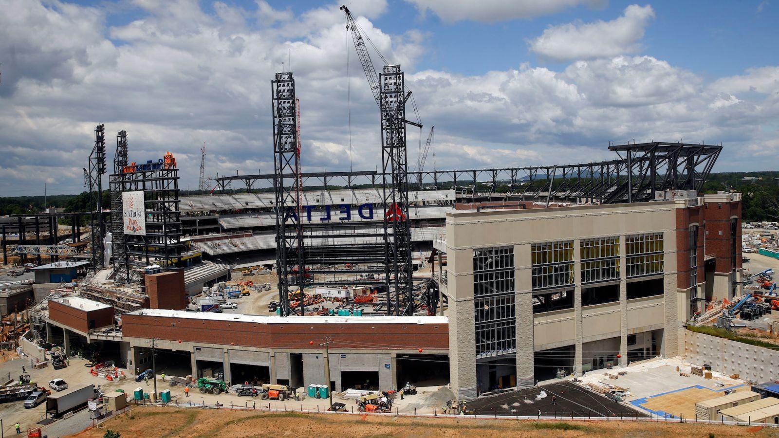 SunTrust Park Braves Stadium construction development