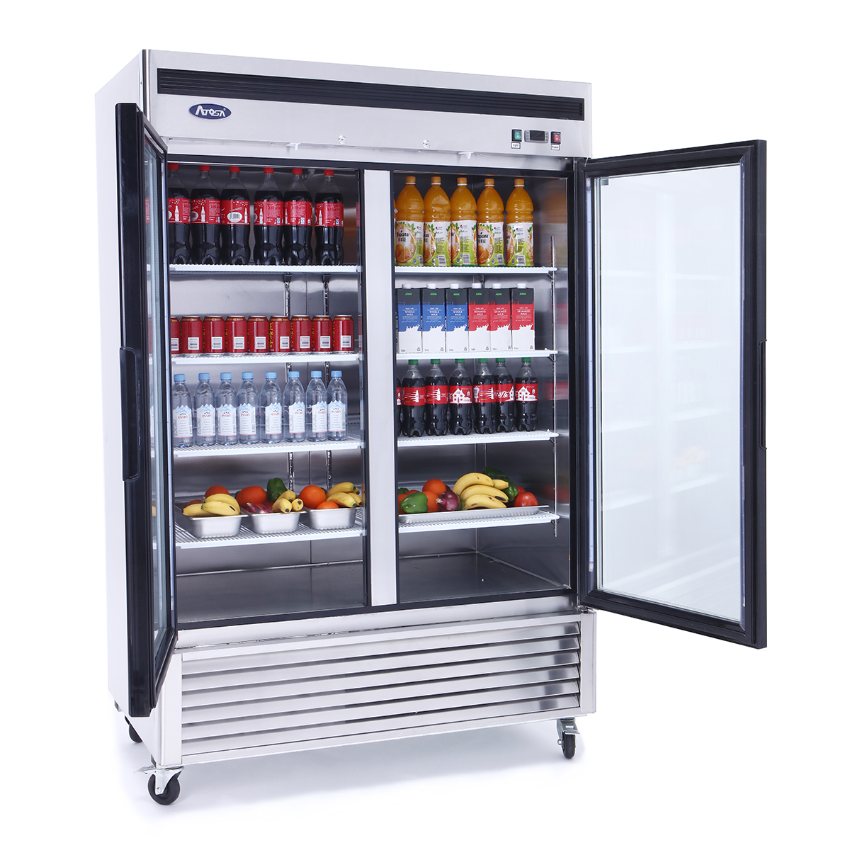 swinging doors on commercial refrigerator