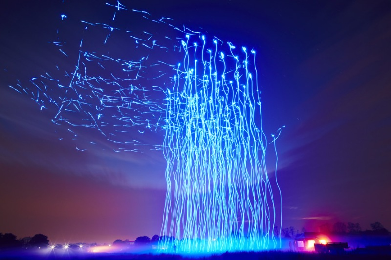 Intel drone light show orchestra in the sky in Sydney, Australia