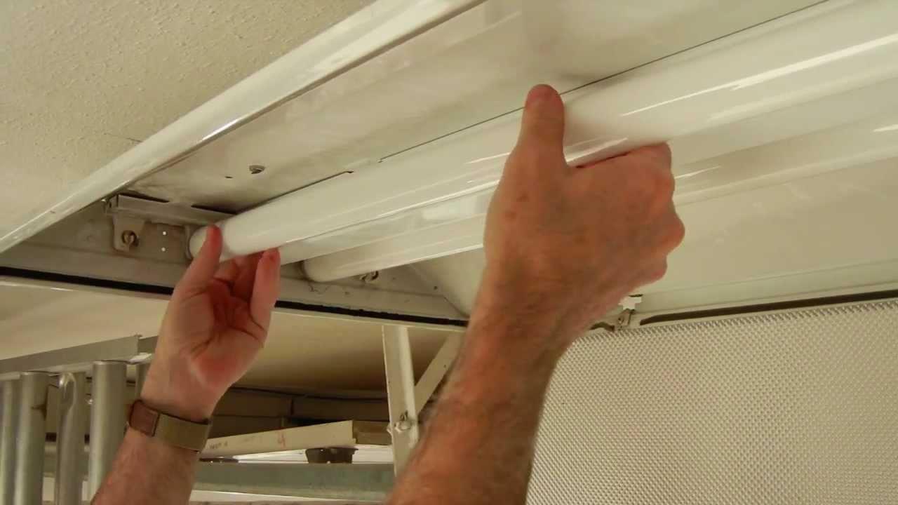 Replacing T8 fluorescent light fixture