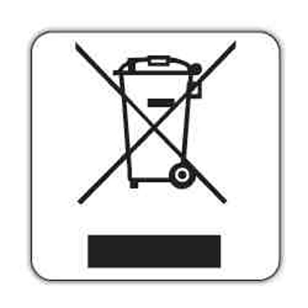 WEEE wheel bin sticker