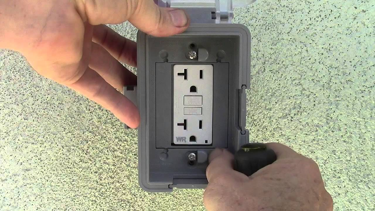 weather resistant electrical outlet