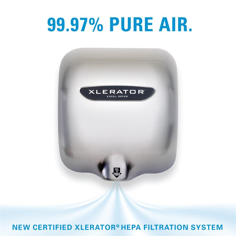 xelerator hand dryer heap filtration system