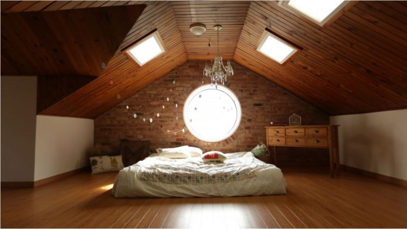 Attic as a bedroom