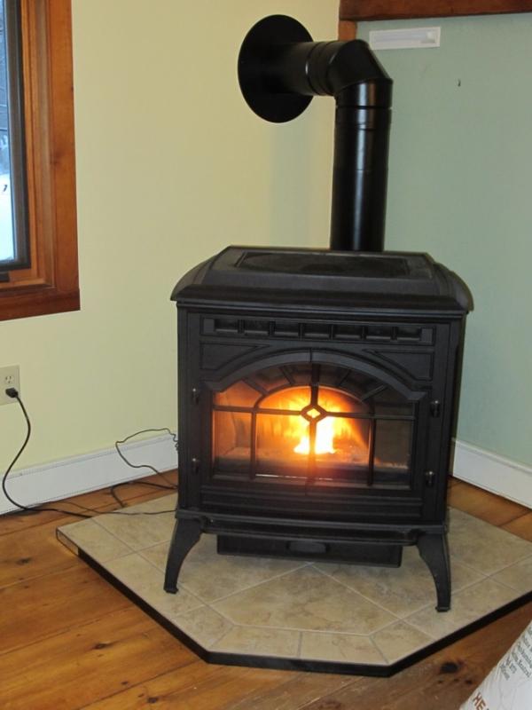 Pellet stove heater