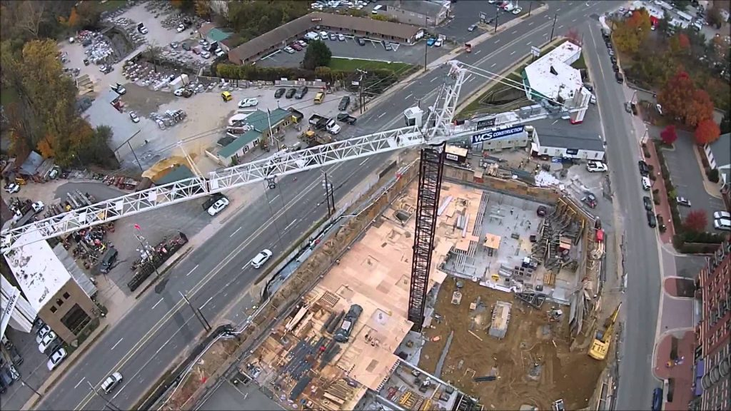 Construction Drone View of Site