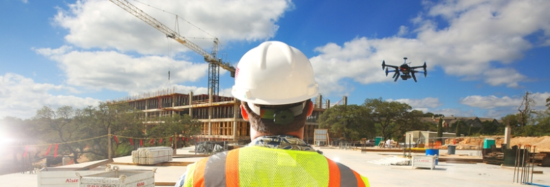 Construction Worker Monitoring Drone