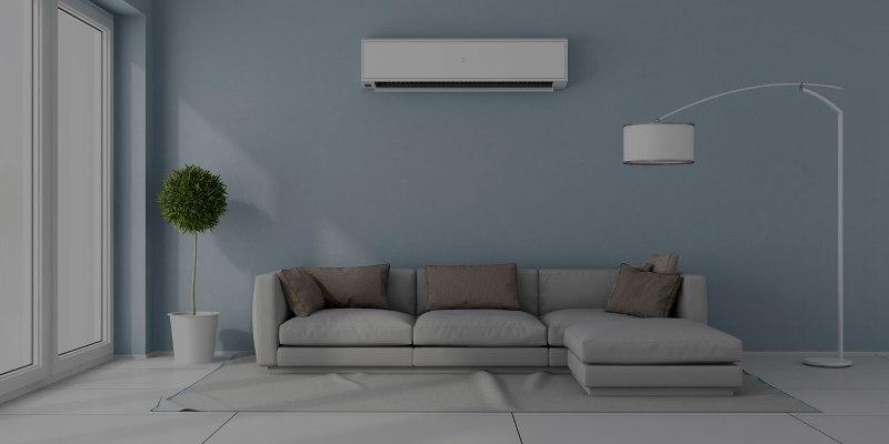 indoor unit in living room