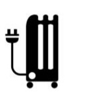 Oil filled heater symbol
