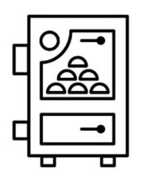 Pellet heater symbol