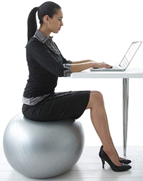 Yoga ball desk chair