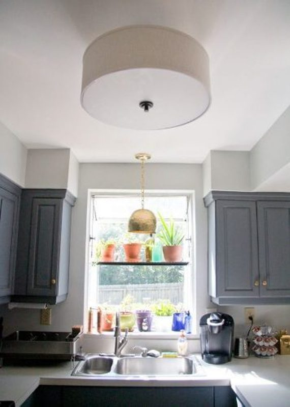 Flush Mount Light in a Kitchen