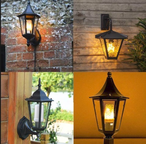 outdoor LED flame bulb vs incandescent
