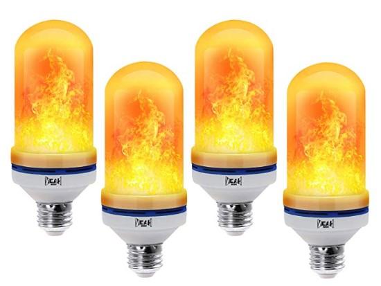 LED flame effect bulbs