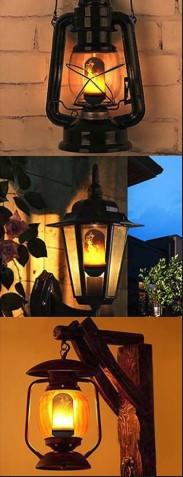 LED flame bulbs in lanterns
