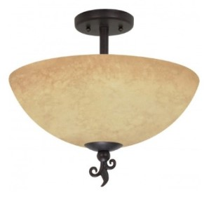 Nuvo semi flush mount lighting fixture
