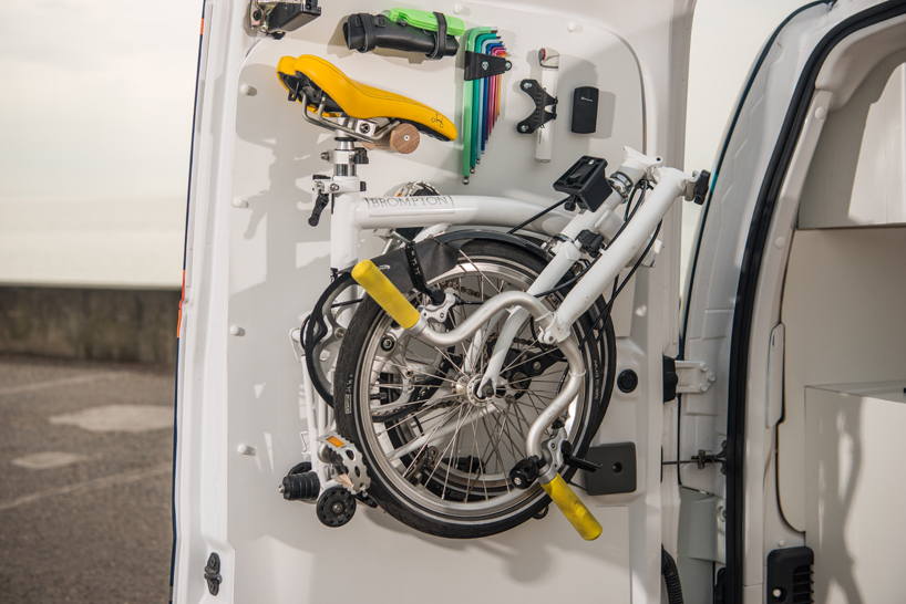 Mount Folding Bike in Back of Van
