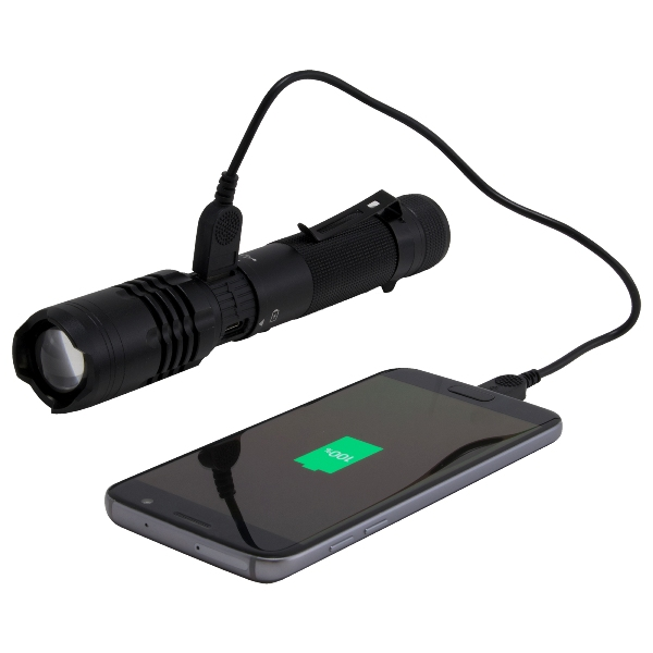 Phone charging flashlight