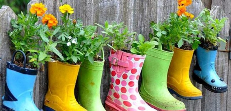 Repurposed Rain Boots