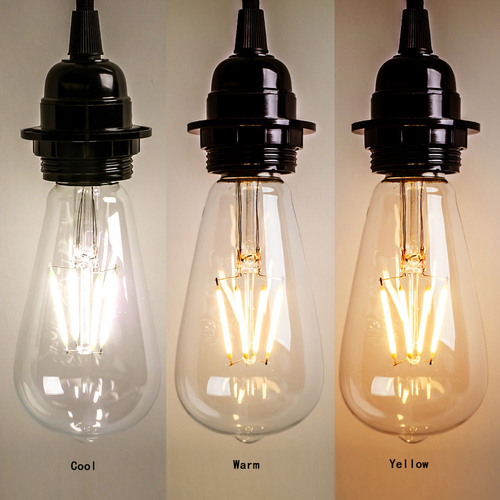Edison Bulb Color Temperature Chart