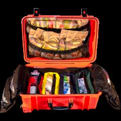 emergency kit opened