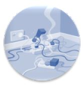 too many plugs in extension cord icon