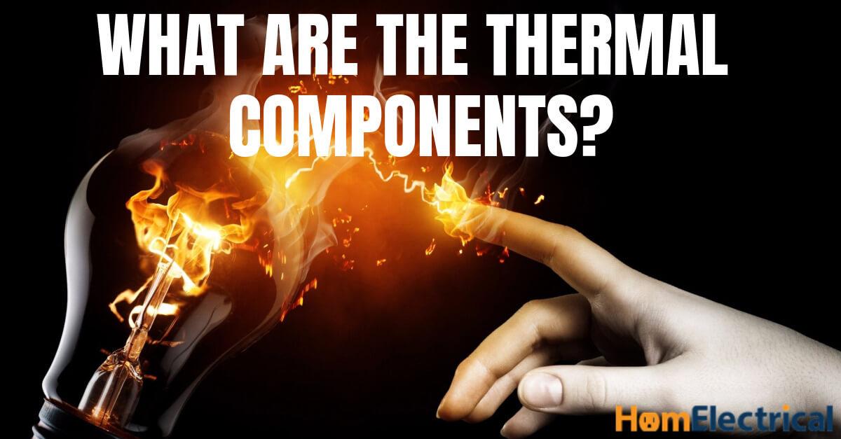 LED lightbulb thermal components