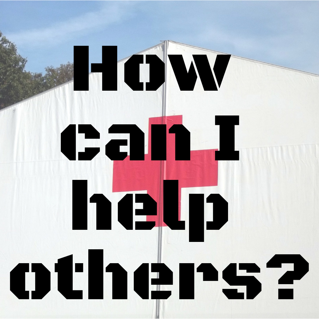red cross tent: How can I help others