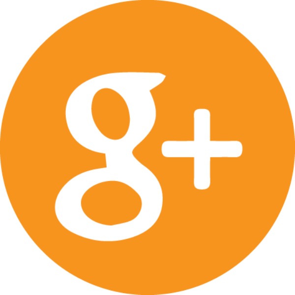 orange Google + icon