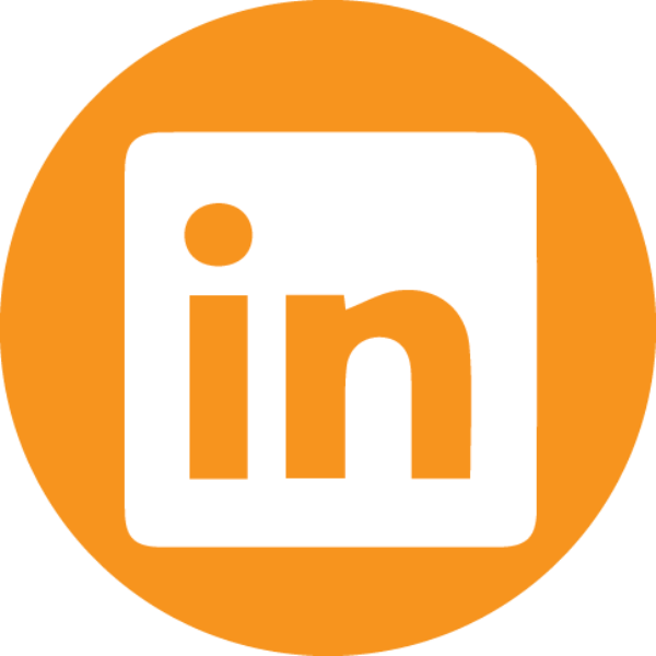orange LinkedIn icon
