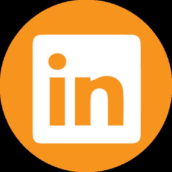 orange LinkedIn icon
