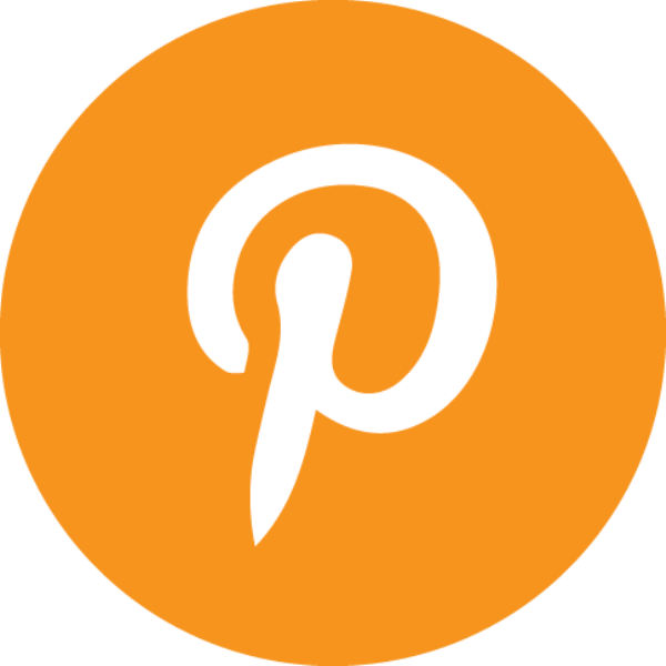 orange Pinterest icon