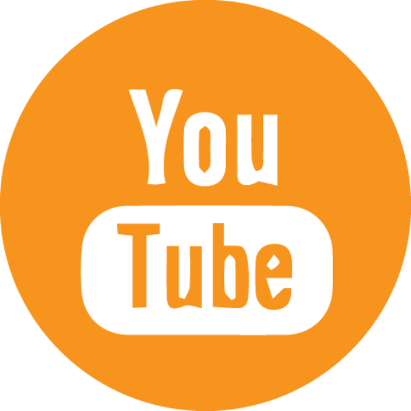 orange Youtube icon