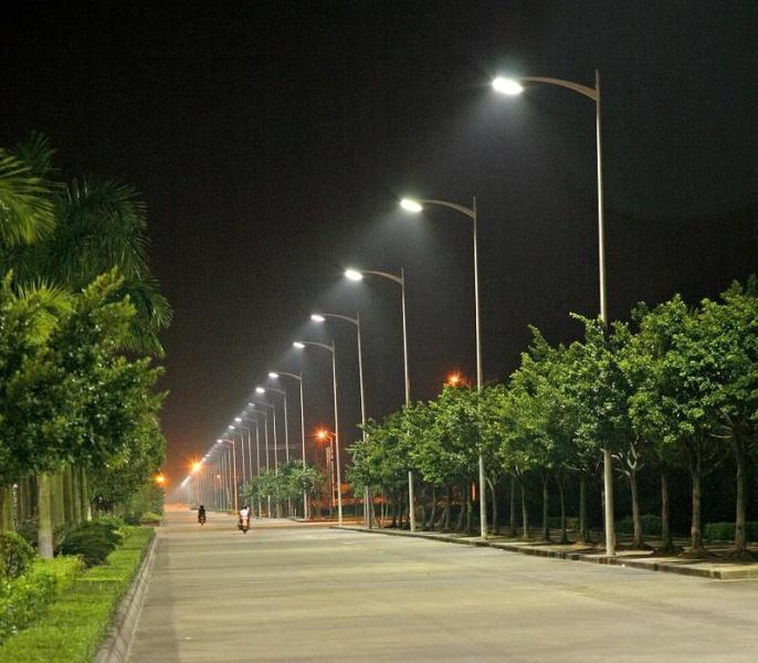 picture of LED street lights in India