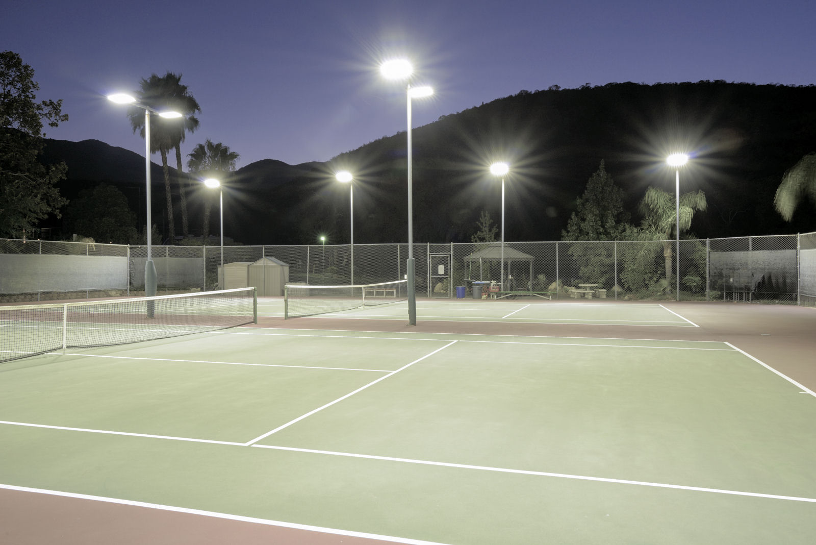 Tennis Court Lighting The Effects Of Spill Light And Glare