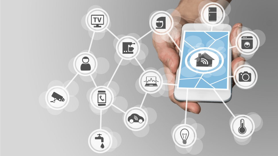 Mesh network controls all devices from mobile device
